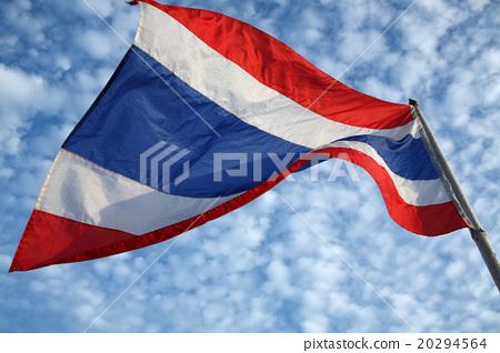 thai flag with blue sky. 20294564