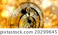 Composite image of close-up of antique pocket clock with roman numbers 20299645