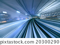 Motion blur of train moving in Tokyo, Japan 20300290
