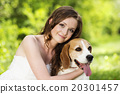 Woman with dog 20301457