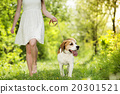 Woman with dog 20301521