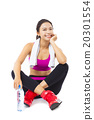 portrait of young  fitness woman 20301554