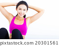 portrait of young  fitness woman 20301561