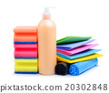 Cleaning supplies, paper napkins, gel, trash bags 20302848