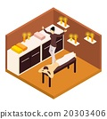 Back Massage Isometric Illustration  20303406