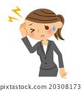 頭疼 頭痛 事業女性 20308173