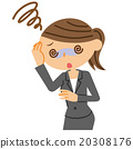 頭昏眼花 頭昏眼花的 事業女性 20308176