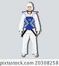 Vector taekwondo fighter 20308258