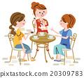 女性 矢量 咧嘴笑 20309783