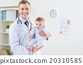 Professional pediatrician holding infant  20310585