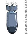 vector, cartoon, bomb 20313642