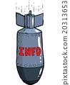 vector, cartoon, bomb 20313653