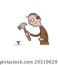 People old man hammer nail 20319629