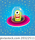 ufo. alien vector. flying saucer 20322511