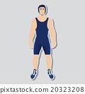 Vector wrestler fighter 20323208