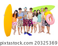 happy young group enjoy summer vacation concept 20325369