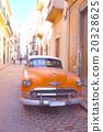 古巴哈瓦那市和經典汽車 20328625