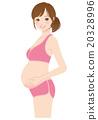 女性 在怀孕期间 妊娠 20328996