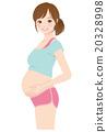女性 在懷孕期間 妊娠 20328998