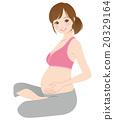 女性 在懷孕期間 妊娠 20329164