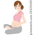 女性 在懷孕期間 妊娠 20329165