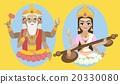 vector lord Brahma and Sarasvati devi 20330080