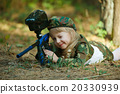 photo of little girl with rifle 20330939