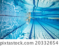 Swimming pool background 20332654