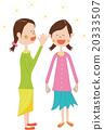벡터, 여성, 웃는 얼굴 20333507