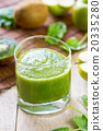 Spinach with Apple and Kiwi smoothie 20335280