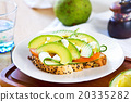 Avocado with Feta sandwich 20335282