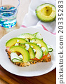 Avocado with Feta sandwich 20335283