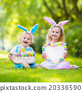 Kids on Easter egg hunt 20336590