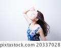 여성, 햇빛, 사람 20337028