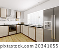 Modern kitchen interior 3d rendering 20341055