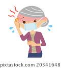 發高燒 老人 女性 20341648