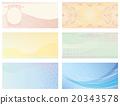 Gift card background set 20343578