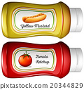 Bottle of mustard and ketchup 20344829