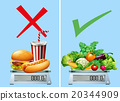 Healthy food versus junkfood 20344909