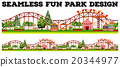 Seamless fun park design with many rides 20344977