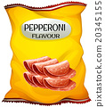 Snack with pepperoni flavor 20345155