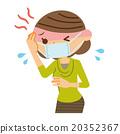 發高燒 中年 女性 20352367