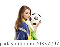 Female soccer fan 20357297