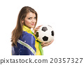 Female soccer fan 20357327