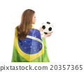 Female soccer fan 20357365