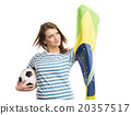 Female soccer fan 20357517