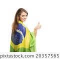 fan, flag, Brazil 20357565