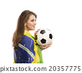 Female soccer fan 20357775