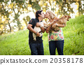 Young couple with dogs 20358178