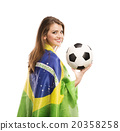 Female soccer fan 20358258
